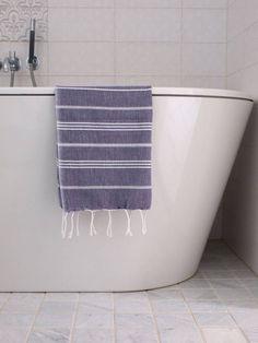 Ottomania hamam handdoek 100x50 donkerpaars
