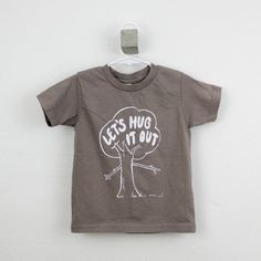 Tshirt toddler organic tree hugger screen printed  2T 4T 6T hipster kid on Etsy, $20.00