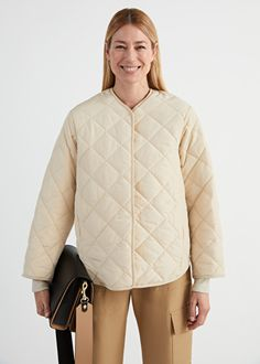 Oversized Double Breasted Quilted Jacket - Cream - Jackets - & Other Stories Blazers For Women, Black Blazers, Coats For Women, Jackets For Women, Shop Jackets, Women's Jackets, Cream Jacket, Clothing Haul, Double Breasted Jacket