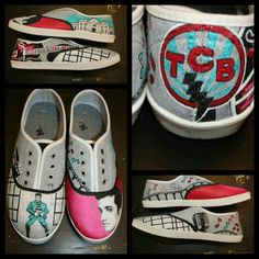 6f25214f8b1e Elvis Presley shoes - custom hand painted - order yours in ANY theme at  www.facebook.com loveleyni