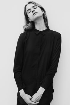 Black Shirt - bold simplicity, minimalist fashion // Ph. Donald J