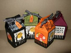 Halloween Treat Mini Milk Cartons
