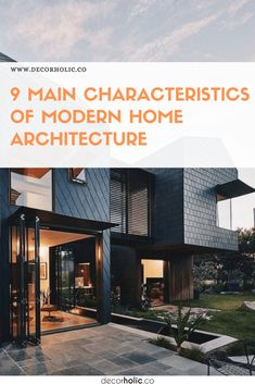 As a modern society, we need more than a home to stay. It is beyond lifestyle. There are certain characteristics of modern home architecture applied around the world. #decorholic #architecture #modernarchitecture #homearchitecture #designinspiration #homedesign