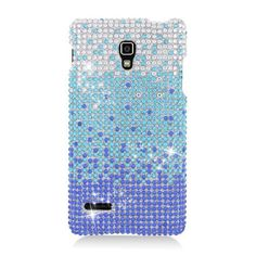 Bling Crystal Rhinestone Hard Snap On Protector Cover Case For LG Optimus L9 P769 - Waterfall Blue by Eagle Cell, http://www.amazon.com/dp/B00AX3FTSC/ref=cm_sw_r_pi_dp_n2LJrb0EC6N7A