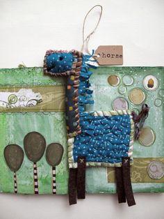 Scrappy Blue Horse