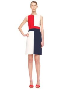 Colorblock Crepe Dress by Michael Kors. I need a pattern for this. I LOVE it. 1895.00
