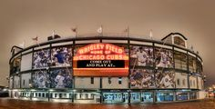 A 30 exposure impossible view of Wrigley Field, home of the Chicago Cubs. By Joseph Lekas