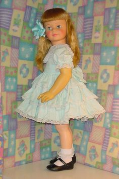 "vintage 1960s walker doll | ... Vintage 1960s Ideal 35"" Patti Playpal doll G35 Blonde pullback Walker:"