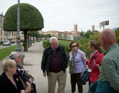Sarasota Sister City Delegation to Treviso Province in 2010 learn about the Monument of Trees honoring 21 men hung in retaliation near the end of WW II in Bassano del Grappe