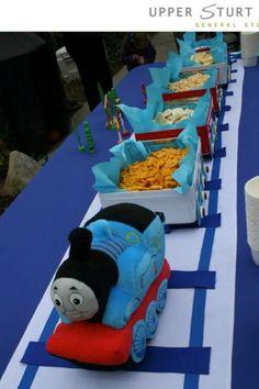 Thomas pulling snacks. boop, boop!