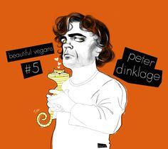 Peter Dinklage - vegan. #celebrityilllustration #celebrityportrait #vegan
