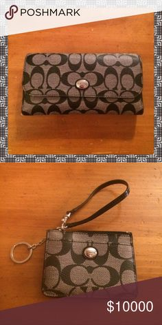 🎀NWOT BEAUTIFUL AUTHENTIC COACH PEYTON SET🎀 🎀NWOT BEAUTIFUL AUTHENTIC BLACK/GRAY COACH PEYTON SET🎀 SET INCLUDES THE LARGE WALLET WITH MATCHING CHECKBOOK COVER & COIN PURSE WITH ID HOLDER AND KEYCHAIN 🎀.  NO LOW BALLING 🎀. PERFECT AS A GIFT OR TO TREAT YOURSELF !!🎀 Coach Bags Shoulder Bags