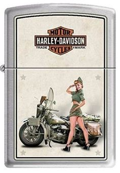 Shopping online for the Zippo Lighters 9939 Harley US Army Pinup World Famous Lighter? We have been selling outdoor survival gear like the Zippo Lighters 9939 at Outdoor Survival Gear, Outdoor Gear, Zippo Harley Davidson, Zippo Usa, Cool Lighters, Custom Lighters, Vintage Cigarette Case, Vintage Ashtray, Light My Fire