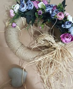 Burlap Crafts, Diy And Crafts, Door Trims, Diy Room Decor, Home Decor, Grapevine Wreath, Floral Wreath, Wreaths, Gifts