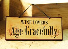 Elegant Ornate Wall Sign with Wine Saying in Yellow, Dark Red and Black. Wine Sign. Kitchen Decor. Wine Decor. Ready to Ship.. $14.00, via Etsy.