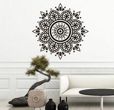 Mandala Wall Decal Yoga Studio Vinyl Sticker Decals Ornament Moroccan Pattern Namaste Lotus Flower Home Decor Boho Bohemian Bedroom Art T100