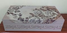 Máqui-joia decoupage floral