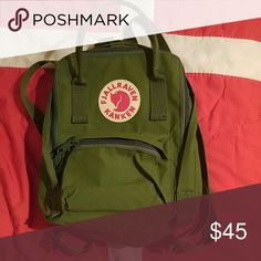 Fjallraven Kanken Mini Bookbag The cutest bag you can buy that would literally survive the apocolypse. Only been used once. fjallraven  Bags Backpacks