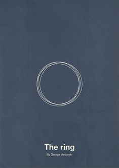 The Ring Minimalist Movie Poster Design by Eder Rengifo