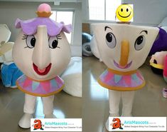 Adult size Beauty and the Beast Mrs Potts & Chip the Teacup mascot costume