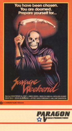 Savage Weekend - horror movie - Paragon Video VHS Cover