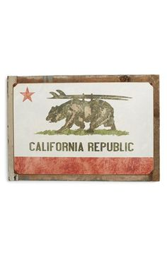 PONCHO & GOLDSTEIN 'California Republic Surf' Sign available at #Nordstrom