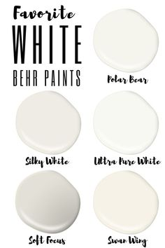 Choosing white paint colors can be tough! I tested out my favorite Behr white wall and trim colors next to popular Benjamin Moore whites. Silky White is my winner for walls - come check it out! Off White Paint Colors, Cream Paint Colors, White Wall Paint, Behr Paint Colors, Off White Paints, Best White Paint, Neutral Paint Colors, Off White Walls, Gray Paint