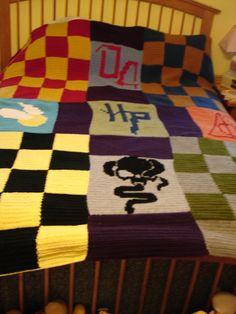 Harry Potter Crochet Blanket PATTERN by SweetPeaCove on Etsy