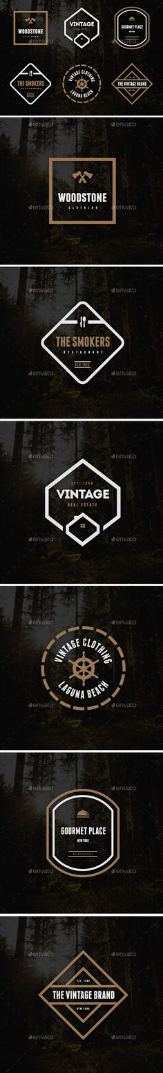 Vintage Logos & Badges Vol. Vintage Frames, Vintage Designs, Retro Vintage, Vintage Style, Cool Poster Designs, Cool Posters, Vintage Branding, Vintage Logos, Badge Logo