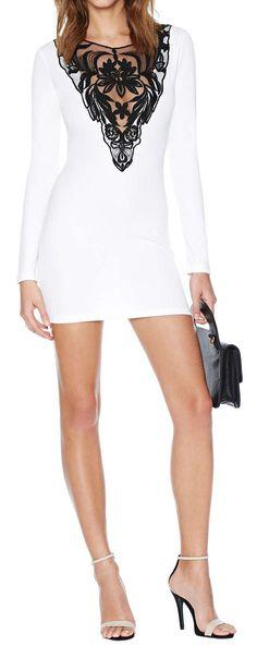 Lace Bodycon Dress ღ