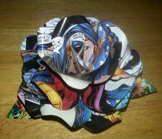 comic book paper roses | Geek Crafts: Comic Book Roses - Team Fighting Mongoose