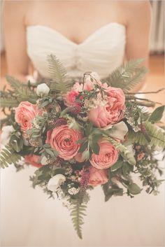 Romantic rose bridal bouquet. Floral Design: Sue Gallo Designs ---> http://www.weddingchicks.com/2014/05/29/love-letters/