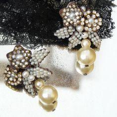 Astolfo Venetian Beaded Garden Earrings