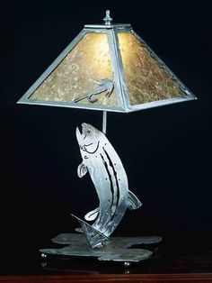 meyda tiffany custom 24231 2 light trout table lamp. Black Bedroom Furniture Sets. Home Design Ideas