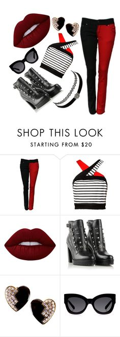 """""""love is like POKER"""" by emoji-pixie ❤ liked on Polyvore featuring Lime Crime, Diesel, Charlotte Russe, Yves Saint Laurent and Karen Walker"""