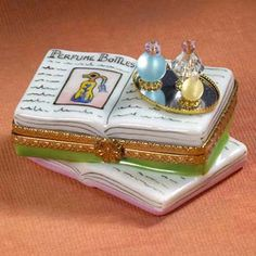 Limoges Book with Perfume BottlesBox - $158.00
