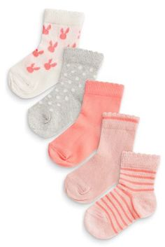 80cdb15a9 Buy Five Pack Fluro Bunny Socks from the Next UK online shop