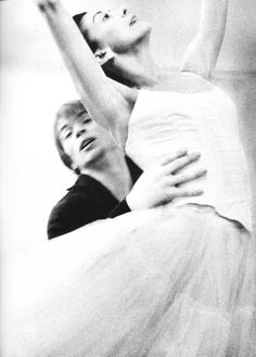 Lord Snowdon: Ballet Dancers Rudolph Nureyev and Dame Margot rehearsing for Marguerite and Armand at The Royal Ballet School, London, pictured 1963.