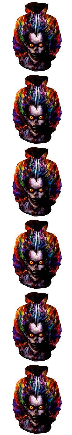 2017 FASHION MEN WOMEN Watercolor painting Joker 3D print Hoodie Sweatshirts Pullovers Autumn Tracksuit Winter Loose Thin Hoody