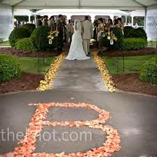 aisle flowers... i am all for some monogramming
