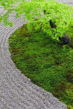 京都の枯山水、日本の禅の庭