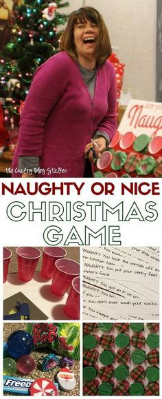 Naughty or Nice Christmas Game is perfect for a large group and everyone will be laughing. Start your Christmas tradition! A simple DIY craft tutorial idea.