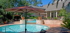 Whispering Pines Ranch offers a relaxing Resort Styled Swimming Pool with Social Areas