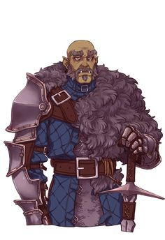 Alpha Orc, whatever he says goes. Back in the day he was ruthless and barbaric, killing the last alpha orc to take control of the tribe. Making it more organized and a little civilized. Some considers him to be weaker then he was in his youth. Fantasy Character Design, Character Drawing, Character Design Inspiration, Character Concept, Fantasy Armor, Medieval Fantasy, Dnd Characters, Fantasy Characters, Dnd Races