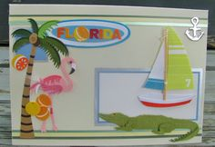 Florida handmade card any occasion FWB by RogueKissedCraft Pink Flamingos, Etsy Store, Dinosaur Stuffed Animal, Greeting Cards, Florida, Awesome, Handmade Gifts, Crafts, Vintage