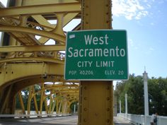 West Sacramento CA City Limit! Welcome to the neighborhood.