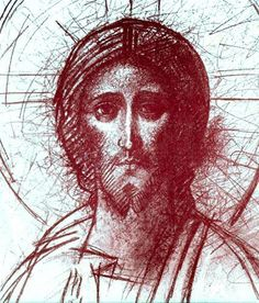 (art by Kiko Arguello) Images Of Christ, Pictures Of Jesus Christ, Religious Icons, Religious Art, Religiosidad Popular, Anima Christi, Candle Art, Jesus Face, Byzantine Icons