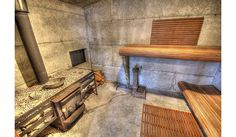 Concrete block sauna
