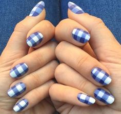 Need some nail art inspiration? For the latest and greatest nails out there, check out our complete round up of cute nail designs. Plaid Nail Art, Plaid Nails, Spring Nail Art, Spring Nails, Simple Nail Designs, Nail Art Designs, Nail Color Combinations, New Nail Colors, Easter Nail Designs