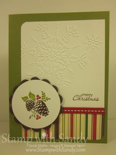 Stamp With Sandy: Pines & Poinsettias for Merry Monday
